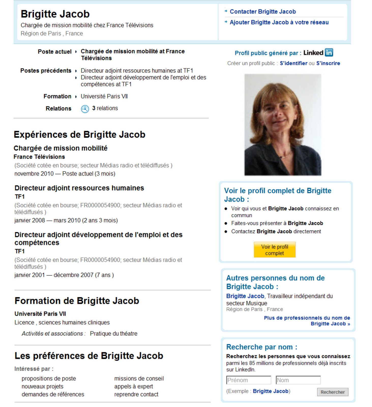 exemple cv chargee mission ressources humaines