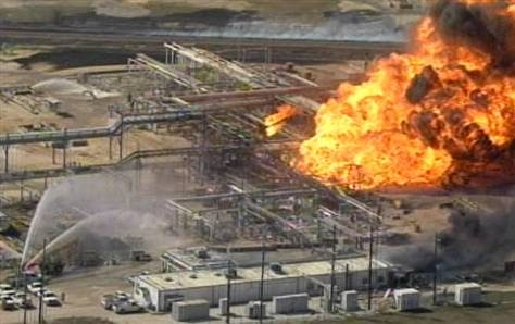 Drilling Santa Fe Texas Natural Gas Plant Ablaze