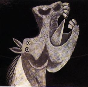 Picasso - Horsehead Sketch for Guernica