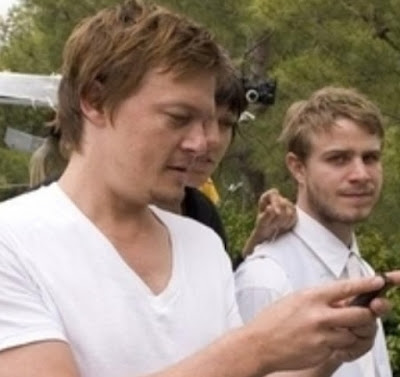 norman reedus a man and his phone