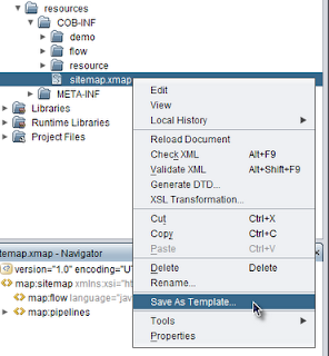 add cocoon sitemap template in netbeans messages from mrhaki