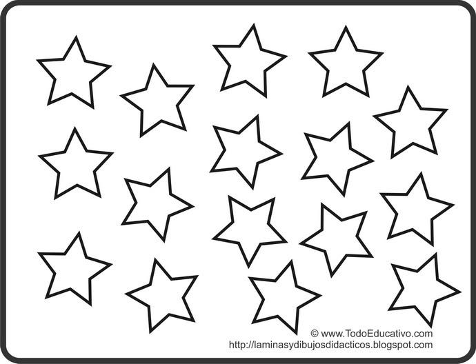 Dibujos De Estrellas Para Colorear E Imprimir: Láminas Y Dibujos Didácticos Gratis Con Dibujos Para