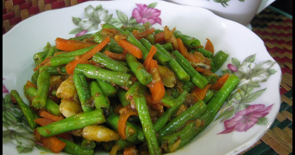 resepi rendang ayam kacang panjang  sarangan Resepi Lontong Goreng Azie Enak dan Mudah