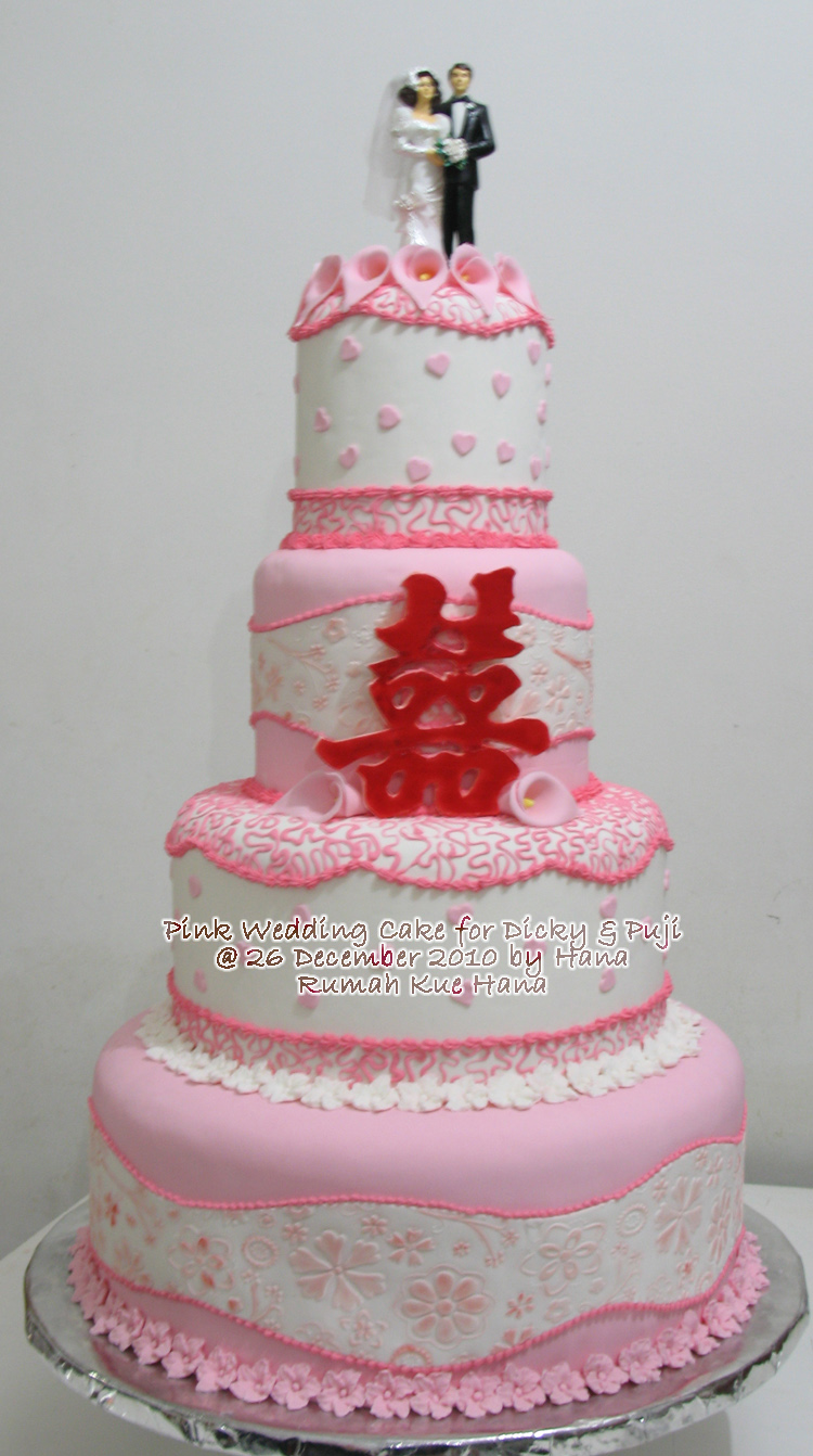 wedding cake murah surabaya rumah kue hana pink wedding cake for dicky dan puji 23290
