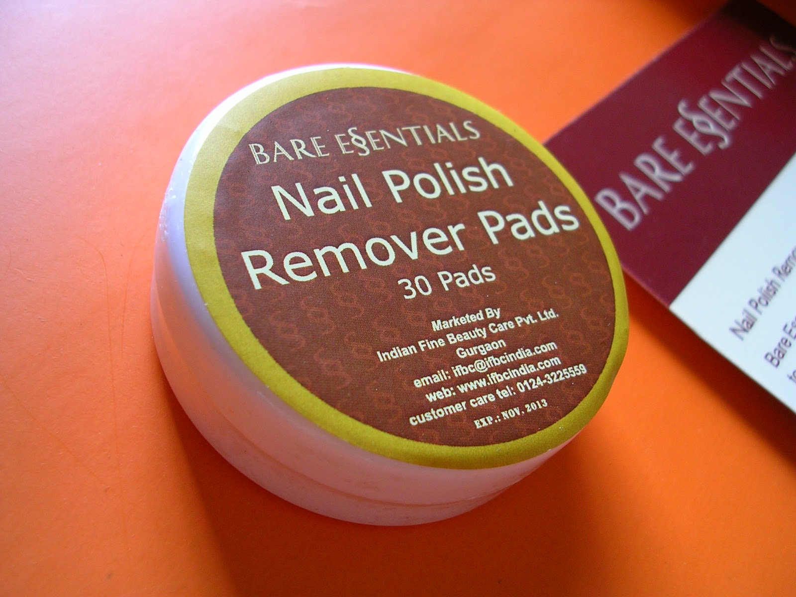 Nail Essentials Nail Polish Remover Wipes Hession