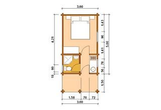 Progetti di case in legno casetta 15 mq terrazza for Case in legno 50 mq