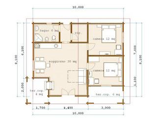 Progetti di case in legno casa 73 mq terrazza coperta 10 mq for Progetti di case