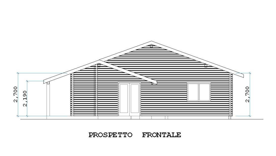 Progetti di case in legno casa 98 mq terrazza coperta 27 mq for 2 500 m di progetti di case aperte