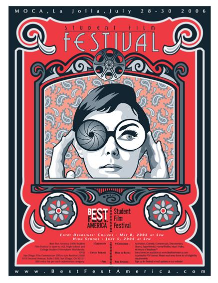 Student Film FESTIVAL Poster Design 2006