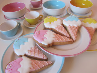 Galletas decoradas cucuruchos
