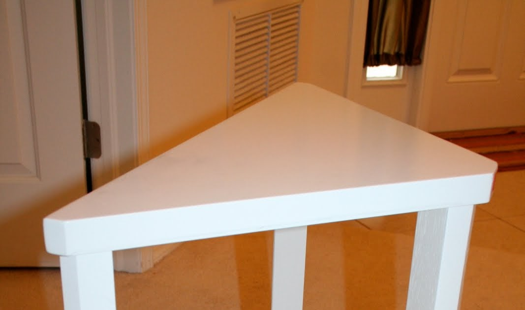 Must Sale All: Small White Corner Table $20