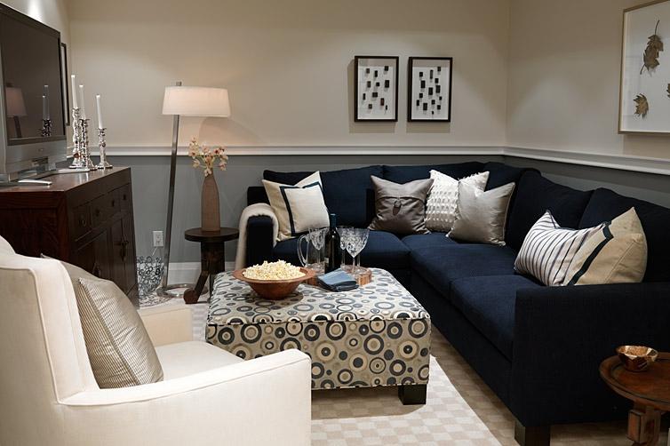 ZE Interior Designs: Designer Profile: Sarah Richardson - Small Basement Sectional