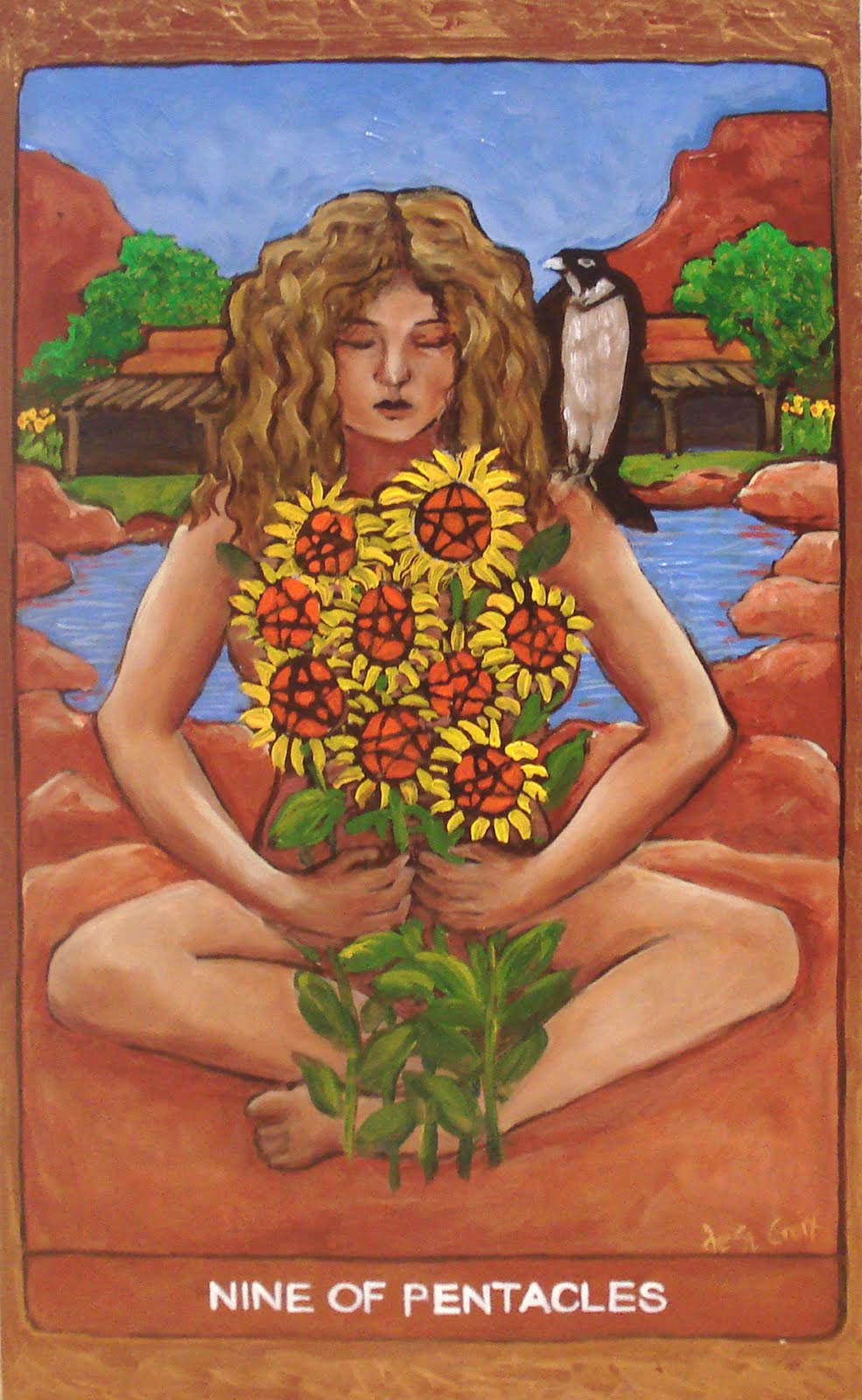 The Pentacles Suit Tarot Cards Meanings In Readings: Tarot De St. Croix: Nine Of Pentacles