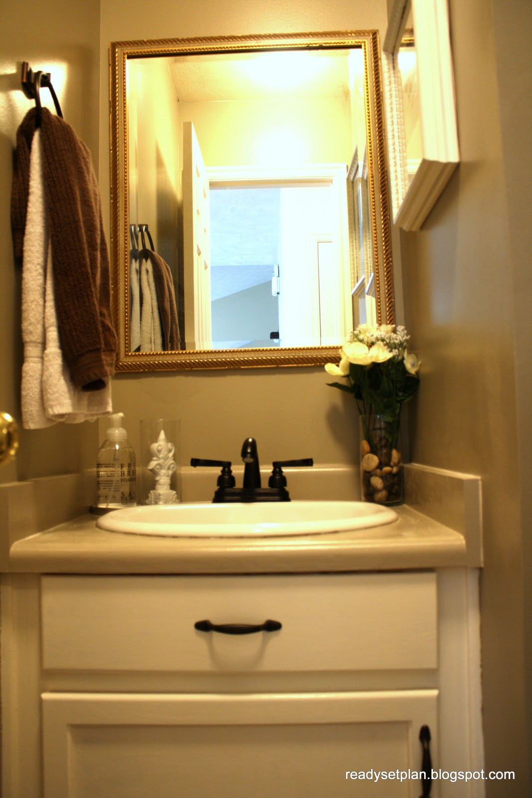 Remodelaholic Half Bathroom Face Lift Before And After
