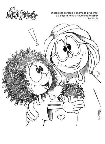 Ensino Biblico Infantil Mig E Meg Para Colorir