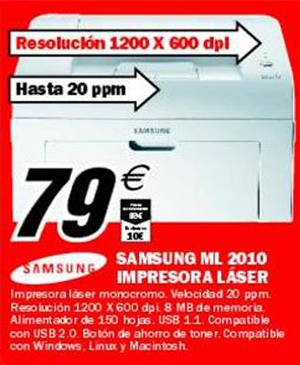 Ofertas Tutiplen Impresora L 225 Ser Samsung 79 Euros En