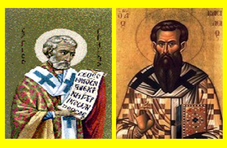 Image result for St. Basilius Agung dan St. Gregorius dari Nazianze Uskup dan Pujangga Gereja