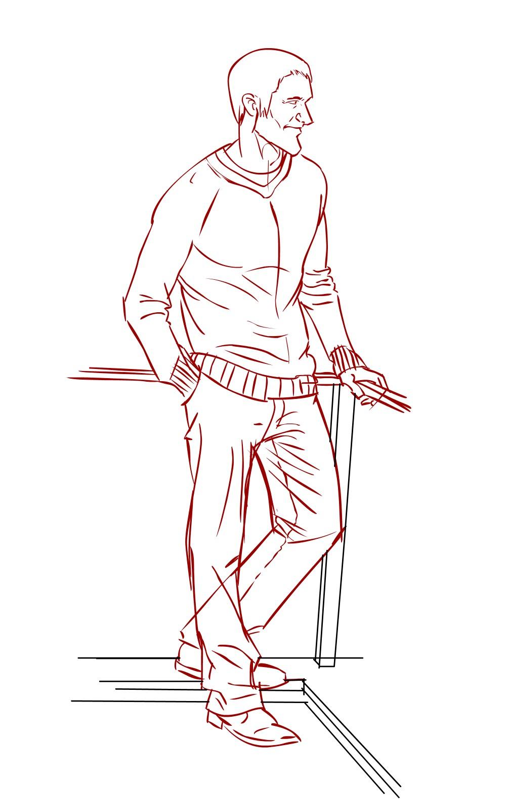Standing Man Drawing