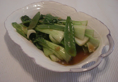 Simple Baby Bok Choy and Snow Peas