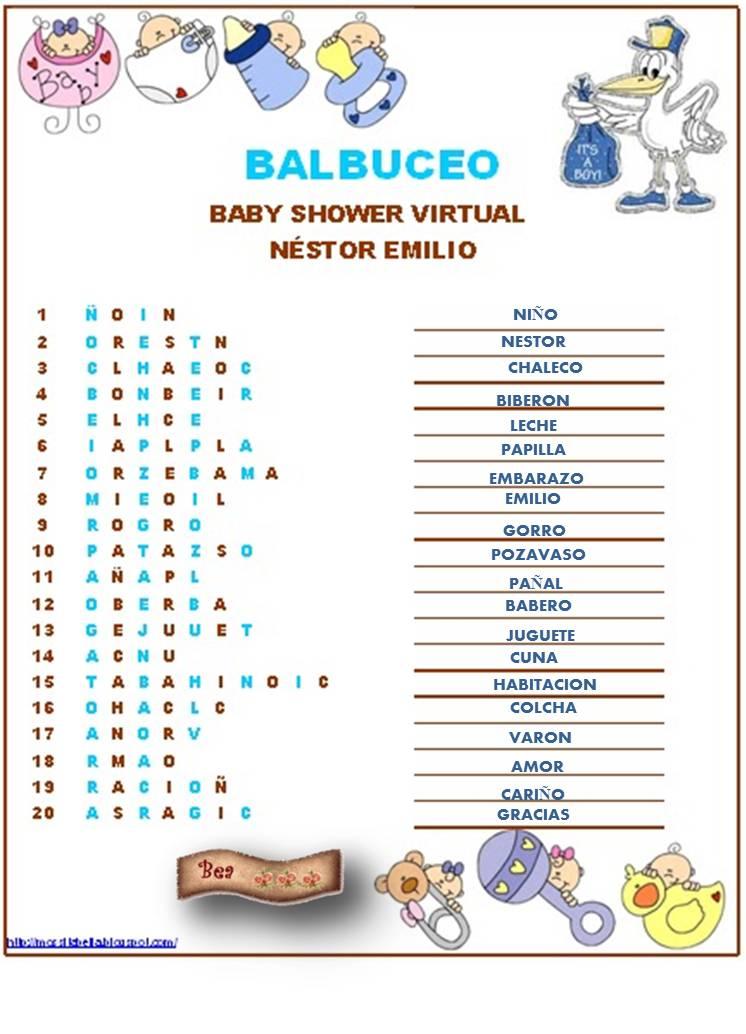 81 Juegos De Baby Shower Para Imprimir Con Respuestas Respuestas