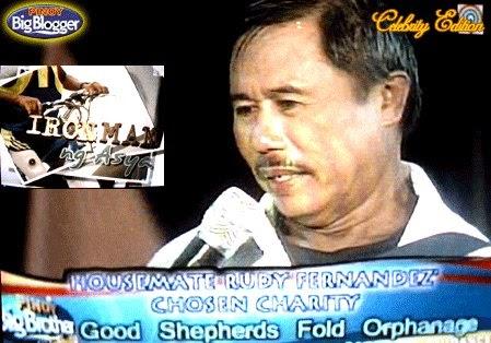 pinoy big brother housemates: Celebrity 1 : Rudy Fernandez