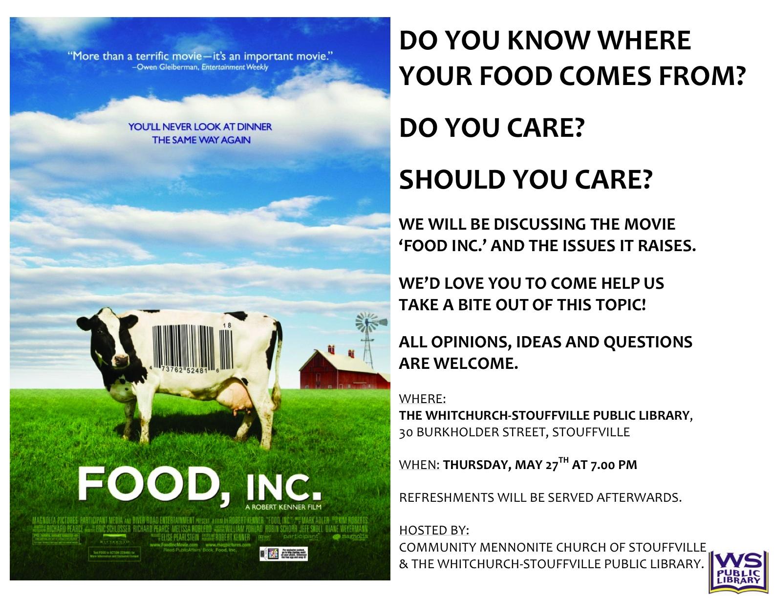 Food Inc. Documentary Free Essay Example