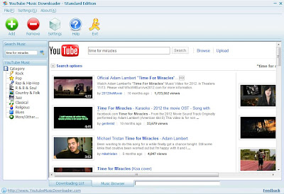 Convert YouTube Music Videos to MP3, AVI, WMV, MOV, MP4 and