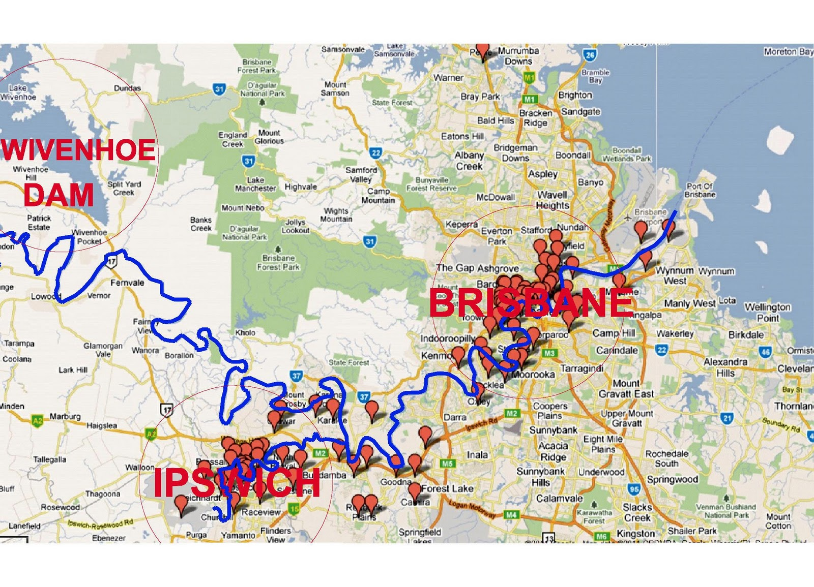 Brisbane Flood Maps