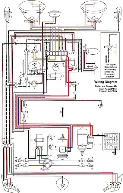 1974 vw beetle wiring diagram 1968 74 vw beetle wiring #12