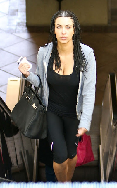 Kim Kardashian out for her day's workout