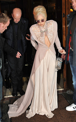 Lady Gaga out for dinner at Chez André in Paris