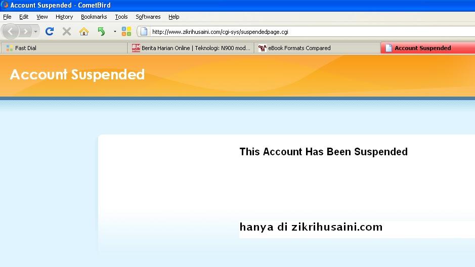 zikri husaini, zikrihusaini.com , blog zikri husaini suspended
