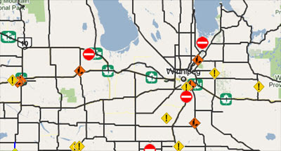 Manitoba Road Conditions Map Maps Mania: Manitoba Road Conditions on Google Maps
