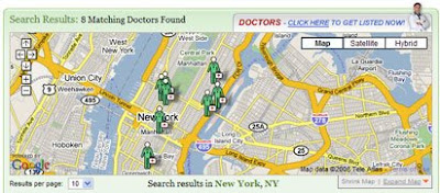 screen shot of doctor.com