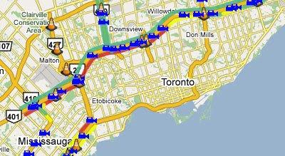 Maps Mania Toronto Traffic Maps