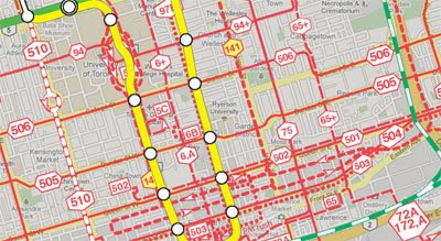 Toronto Bus And Subway Map.Maps Mania Toronto Buses On Google Maps