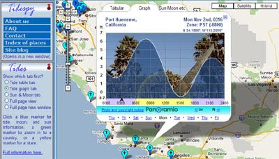 Maps Mania: Google Map of Tide Times