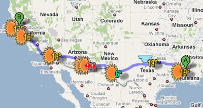 Map Of Arizona Driving.Maps Mania Driving Directions With Weather