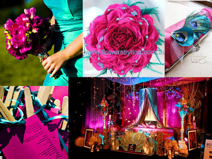 Turquoise Fuchsia Wedding: Fairy Tale Events Of New York: Inspiration: Pink + Turquoise