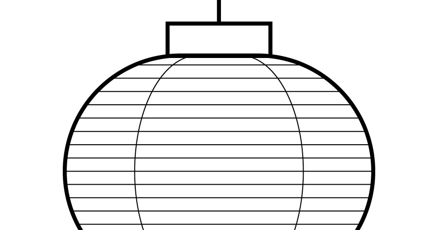 chinese lantern coloring pages - photo#8