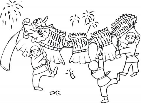 chinese new year free coloring pages | Chinese New Year Coloring Pages: June 2010
