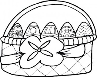 egg basket coloring printables