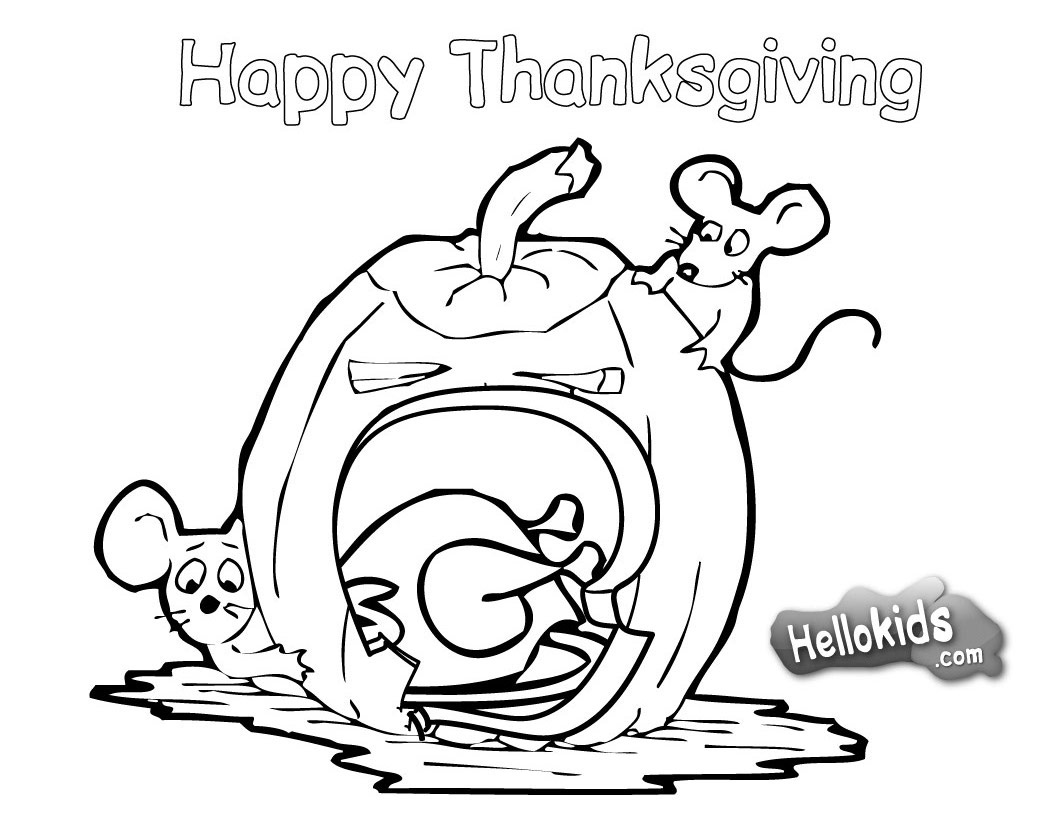 Thanksgiving Coloring Pages: Happy Thanksgiving Coloring Pages