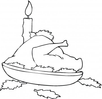 Thanksgiving Coloring Pages: Thanksgiving Food Coloring Pages