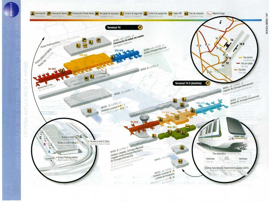 Mapa Aeropuerto Barajas T4.Como Ir De La T4 A La T4s En Barajas Paso A Paso Trabber