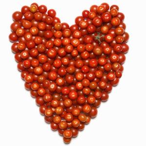 red tomato shape love tomato love
