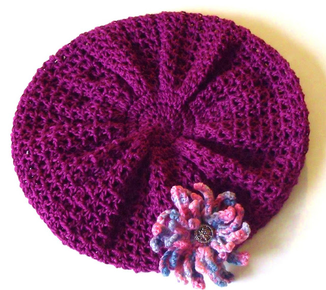 free crochet patterns, hats, berets, how to crochet,