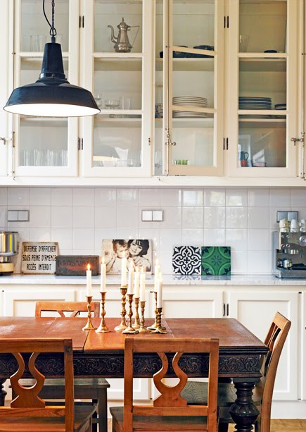 delight by design: eat-in kitchen {industrial chic}