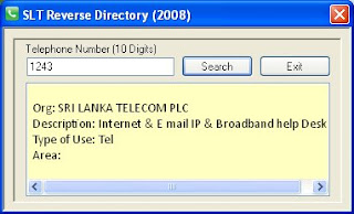 SLT Reverse Directory