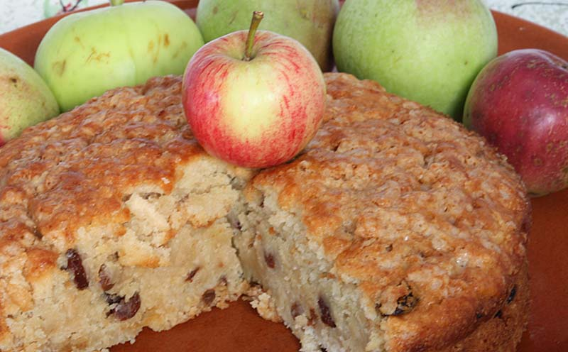 Grated Apple Chocolate Cake